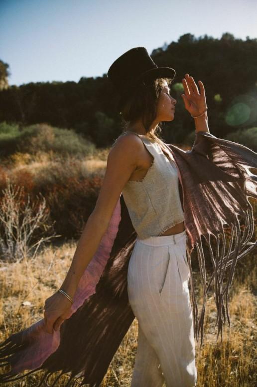 Blue Gabor Ohara Carbon w/ Pink Taiana Design Felted Merino Wool Dreadlocks textiles handmade women